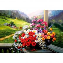 Kit ricamo diamante - Collection d'Art - Bouquet alpino