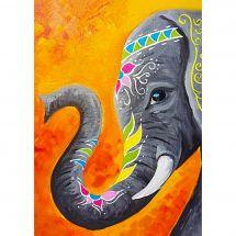 Kit ricamo diamante - Collection d'Art - Elefante indiano