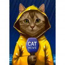 Kit ricamo diamante - Collection d'Art - Giornalista gatto