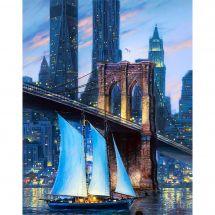 Kit ricamo diamante - Collection d'Art - Grande ponte della città
