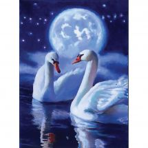 Kit ricamo diamante - Collection d'Art - Cigni mistici