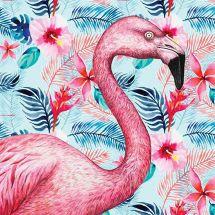 Kit ricamo diamante - Collection d'Art - Fenicottero rosa esotico