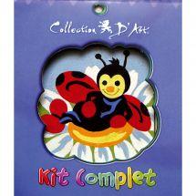 Kit di tela per bambini - Collection d'Art - La coccinella