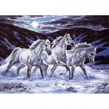 Canovaccio antico - Collection d'Art - Cavalli nella neve
