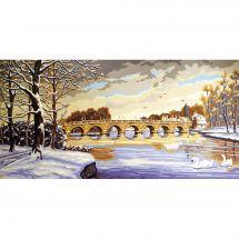 Canovaccio antico - Collection d'Art - Ponte in inverno