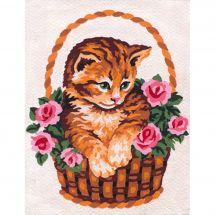 Canovaccio antico - Collection d'Art - Gatto nel cestino