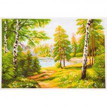 Kit Punto Croce - Collection d'Art - Nella foresta