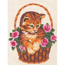 Kit di tela per bambini - Collection d'Art - Il paniere del gatto