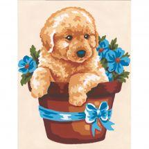 Kit di tela per bambini - Collection d'Art - Il cappello del cane