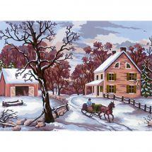 Kit di tela per bambini - Collection d'Art - Paesaggio d'inverno