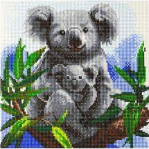 Kit ricamo diamante su telaio - Crystal Art D.I.Y - Dolcezza di koalas
