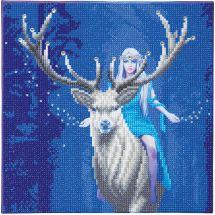 Kit ricamo diamante su telaio - Crystal Art D.I.Y - Foresta della fantasia