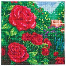 Kit ricamo diamante su telaio - Crystal Art D.I.Y - Una rosa rossa perfetta