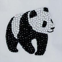 Adesivo da ricamo Diamante - Crystal Art D.I.Y - Sticker - Panda