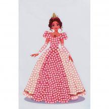 Adesivo da ricamo Diamante - Crystal Art D.I.Y - Sticker - Rosa Princesse