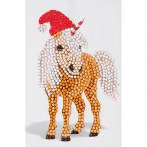 Adesivo da ricamo Diamante - Crystal Art D.I.Y - Adesivo - Cavallo di Natale