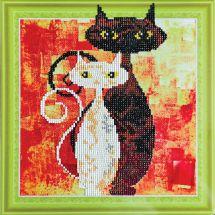 Supporto in cartoncino per ricamo diamante - RTO - amare i gatti