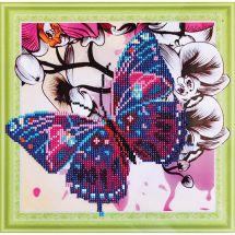 Supporto in cartoncino per ricamo diamante - RTO - Farfalle e orchidee