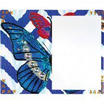 Supporto in cartoncino per ricamo diamante - RTO - Cuscino da ricamare farfalle