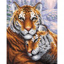 Kit ricamo diamante - RTO - Coppia di tigri