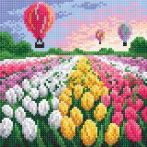 Kit ricamo diamante - RTO - Campo di tulipani