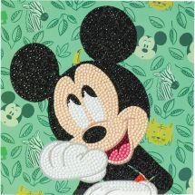 Carta con ricamo a diamante - Crystal Art D.I.Y - Mickey felice