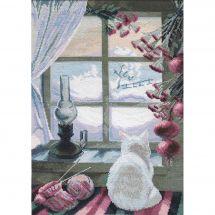 Kit Punto Croce - Charivna Mit - Gatto vicino alla finestra