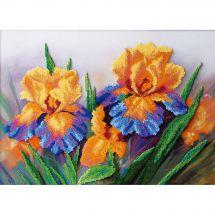 Kit di ricamo con perline - Charivna Mit - Iris di giardino