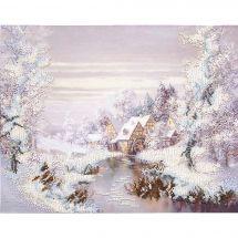 Kit di ricamo con perline - Charivna Mit - Il mulino in inverno