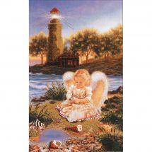 Kit di ricamo con perline - Charivna Mit - Angelo con perla