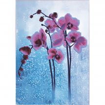 Kit di ricamo con perline - Charivna Mit - Orchidea selvatica