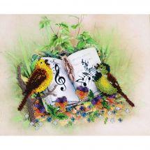 Kit di ricamo con perline - Charivna Mit - Uccelli cantanti