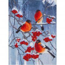 Kit di ricamo con perline - Charivna Mit - Colori vivi dell'inverno