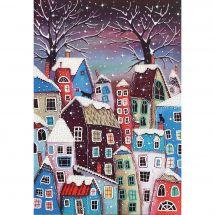 Kit di ricamo con perline - Charivna Mit - Casa di inverno