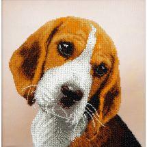Kit di ricamo con perline - Charivna Mit - beagle