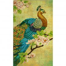 Kit di ricamo con perline - Charivna Mit - Cuscino da ricamare uccello del paradiso