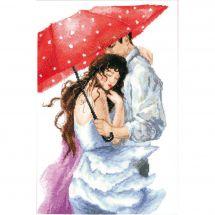 Kit Punto Croce - Charivna Mit - Coppia sotto l'ombrello