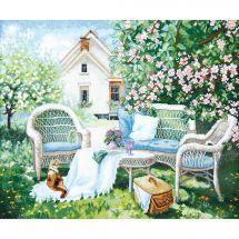 Kit Punto Croce - Charivna Mit - nel giardino fiorito