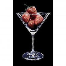 Ricamo Cristallo - Charivna Mit - Bicchiere di fragole