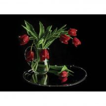 Ricamo Cristallo - Charivna Mit - Mazzo di tulipani