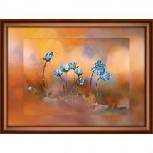 Ricamo Cristallo - Charivna Mit - Fiori blu