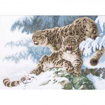 Kit Punto Croce - Charivna Mit - Pantera nella neve