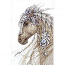 Kit punto croce con perle - Charivna Mit - Cavallo fantastico