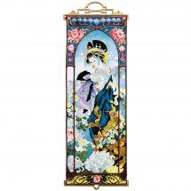 Kit punto croce con perle - Charivna Mit - Geisha con crisantemi