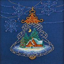 Kit punto croce con perle - Charivna Mit - Luce di Natale