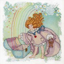 Kit punto croce con perle - Charivna Mit - Angelo disubbidiente - angelo del tesoro