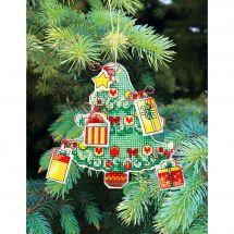 Kit di ornamenti da ricamare - Charivna Mit - Giocattoli di Natale: Albero di Natale
