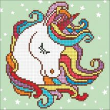 Kit ricamo diamante - Diamond Art - Unicorno divertente