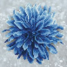Kit ricamo diamante - Diamond Art - Dalia blu