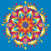 Kit ricamo diamante - Diamond Art - Mandala blu